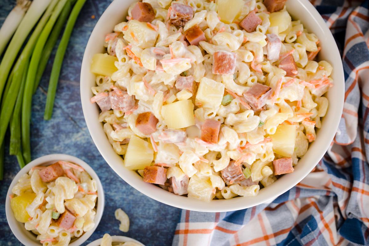 Hawaiian Macaroni Salad with Spam