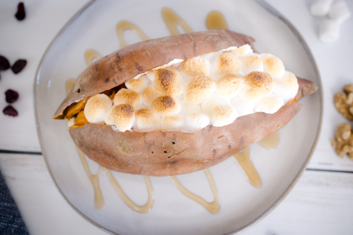 Sweet Potato with Marshmallows and Brown Sugar