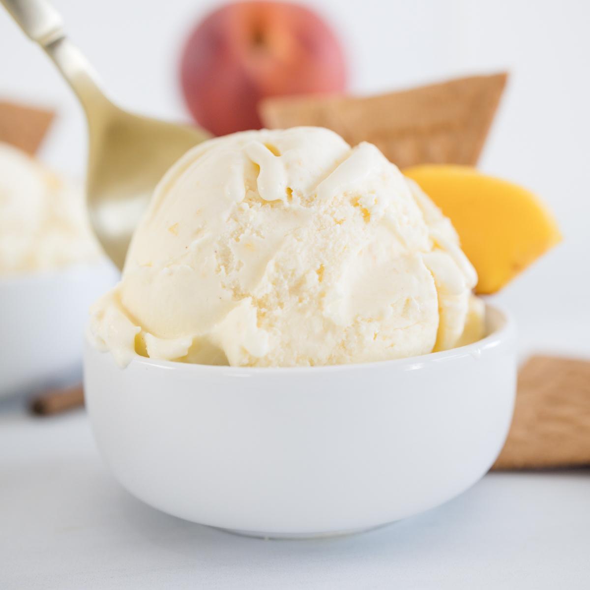 Creamy Peach Ice Cream