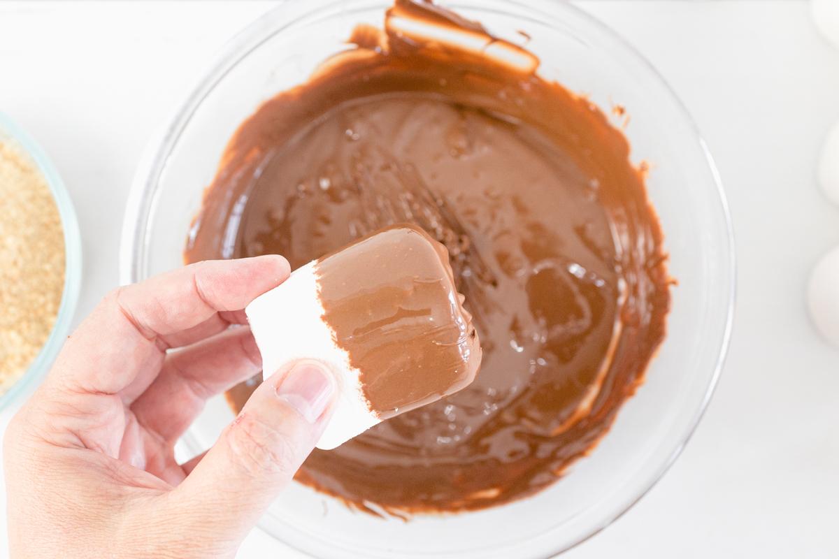Dip Marshmallow in Chocolate