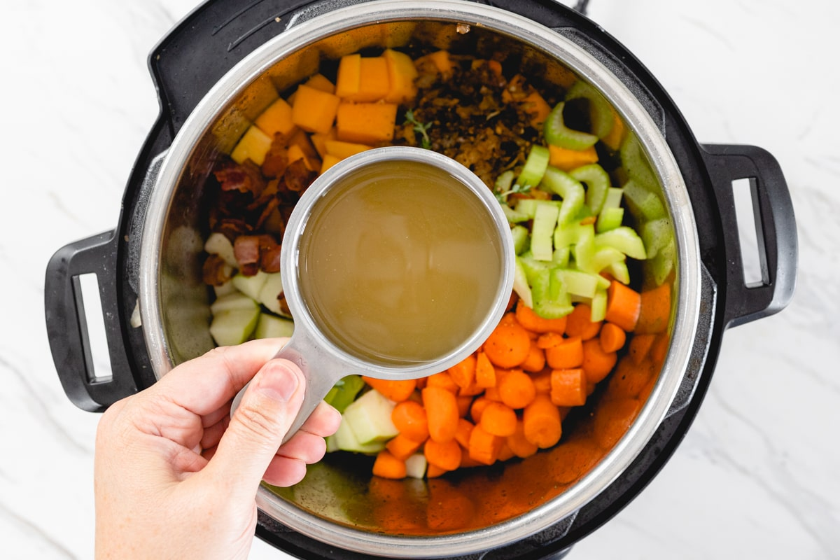 Add Broth to Instant Pot